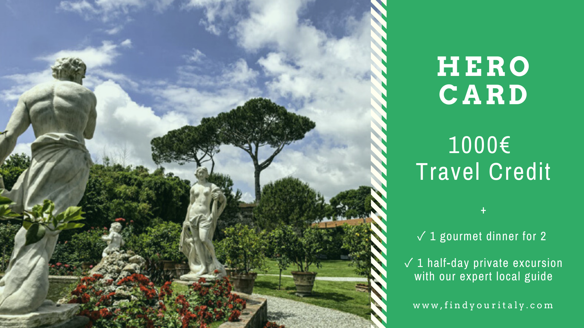 travel voucher gift cards sustainable responsible travel italy